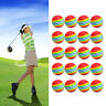 20Pcs/Pack Rainbow Stripe Foam Sponge Golf Balls Swing Practice Training Aids UK