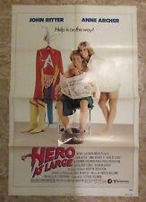 1980 HERO AT LARGE Original Movie Poster 1-SH FN+ 6.5 John Ritter