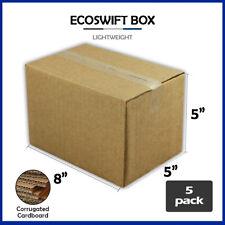 5 8x5x5 Ecoswift Brand Cardboard Box Packing Mailing Shipping Corrugated