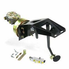 53-56 Ford Truck FW 9 Single Brake Pedal kit Adj Disk/DiskSm Oval Blk Pad