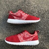 Used Nike Roshe Run Winter Sweater Red Size 7