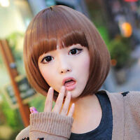 FIXSF684 charming short new style fashion medium brown  hair wigs for women wig