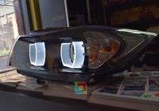 FANALI ANGEL EYE LED PER BMW SERIE 3 E90 E91 04-11 FARI ANTERIORI LENTICOLARI