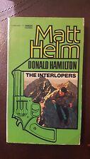 """Donald Hamilton, """"Interlopers,"""" 1969, Fawcett Gold Medal 3994-8, VG,"""
