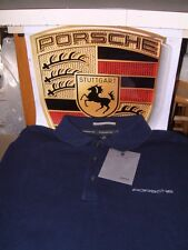 PORSCHE DESIGN NOS SUEDED LONG SLEEVE POLO SHIRT USA:SIZE M = EURO L. NIBWT!