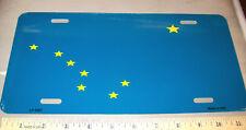 Alaska Metal Novelty License Plate, Alaska Flag style w Big Dipper & north star