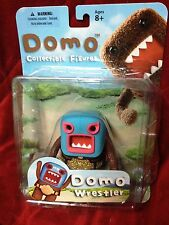 NEW Mezco Domo Planet Wrestler Action Figure Belt Title Buckle Mask Cape 2012