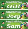 2 personalised birthday banners green irish adults children St. Patrick's party