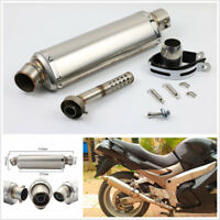 Universal Motorcycle Exhaust Muffler Pipe with Removable DB Killer Slip 38-51mm