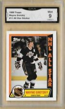 1989-90 Topps Wayne Gretzky #11 sticker GRADED GMA 10 GEM MT