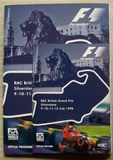 BRITISH GRAND PRIX FORMULA 1 1998 SILVERSTONE F1 Official Race Programme
