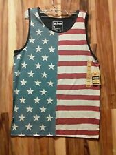Nwt Mens Tank T-shirt Urban Pipeline  Scoop Neck M AMERICAN FLAG