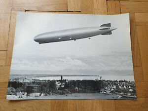 Zeppelin Airship Graf Zeppelin D-LZ 127 in Germany. Big 40x30 cm.