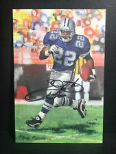 Autograph EMMITT SMITH Signed Goal Line Art GOLD 71/100 GLA Dallas Cowboys AUTO