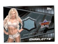 WWE Charlotte 2016 Topps Divas Revolution Event Used Mat Relic Card SN 42 of 50
