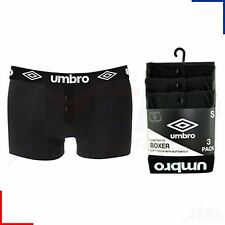 3 Pairs Mens Umbro Boxer Shorts Sports Trunks Briefs Fitted Cotton Button Fly