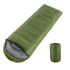 3 Season Waterproof Sleeping Bag Single Person Camping Hiking Case Envelope Zip