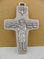 """POPE FRANCIS 4"""" AUTHENTIC MADE ITALY PESTORIAL CROSS by ARTIST ANTONIO VEDELE"""