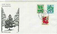 Canada 1977 Trees Low Value Definitives FDC Three Mixed Stamps Cover ref 22039