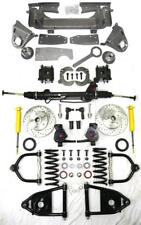 """1947-1954 Chevy Truck Mustang II Power Front End Suspension Kit 2"""" Drop Slotted"""