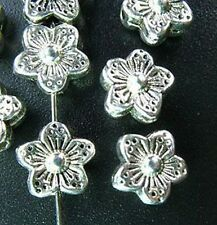 30pcs Tibetan Silver Flower Spacers Beads 9mm T15