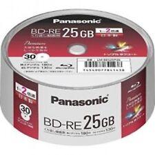 30 Pack in Spindle Panasonic BD-R 25GB 2x Inkjet Printable Rewritable Bluray F/S