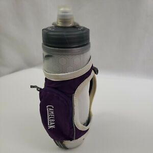 Camelbak Chill Bottle & Quick Grip Bottle Holder Bundle Trail Run Hike Purple