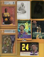 Kobe Bryant ROOKIE BGS 9 1 OF 1 PRINTING PLATE GOLD CARD ETOPPS 24 JERSEY LAKERS
