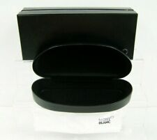 Montblanc Eyeglasses Glasses Hard Case with Cleaning Cloth Black New w Box