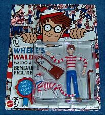 "VINTAGE-1991-MATTEL / ARCO TOYS-1/14 SCALE-""WHERE'S WALDO & WOOF"" FIGURES-MIC8+P"