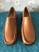 Mens Samuel Windsor  leather Slip On Shoes Sz 8 Dark Tan
