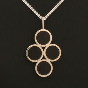 Danish sterling silver pendant designed and made by Arne Johansen,1 Black Onyx
