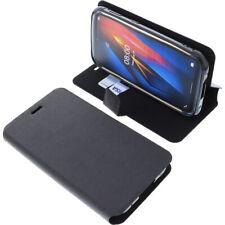 Tasche für Ulefone Armor X8 Book-Style Schutz Hülle Handytasche Buch Schwarz