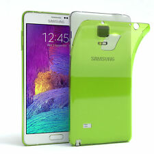 Ultra Slim Cover für Galaxy Note 4 Case Silikon Hülle Transparent Grün