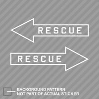 Rescue Arrow Sticker Decal Vinyl opposite sides