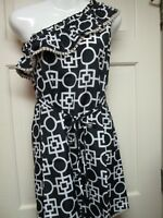 Black and White One-Shoulder Dress by Mud Pie, Size Small (4-6), NWT