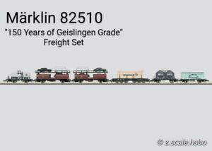 Marklin Z Scale 82510 6-Car Geislingen Freight Set w/Autos USED -$0 SHIP
