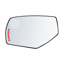 Fits 14-17 1500 Silverado, Sierra  Left Driver Mirror Glass Lens w/ Signal Icon