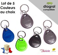 Lot de 5 badges compatibles Diagral (Couleurs au choix)