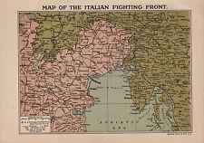 1918 WW1 WORLD WAR I WWI MAP ~ ITALIAN FIGHTING FRONT TRIESTE AUSTRIA NAVAL FORT