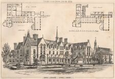 Saint Edwards Schools, Oxford; W. Wicklow, Architect, Oxford. Oxfordshire 1874