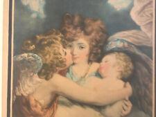 Très Belle Gravure JOSHUA REYNOLDS Portrait Putti Anges gardiens. 1786