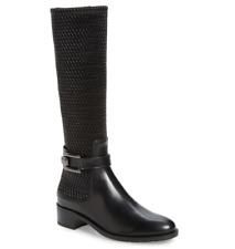 Aquatalia Odilia Women's Black Leather Boot 12 2655