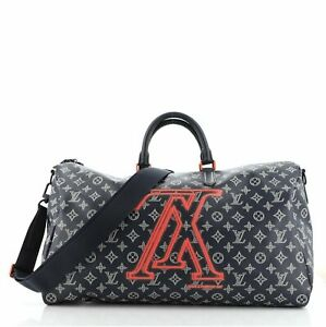 Louis Vuitton Keepall Bandouliere Bag Limited Edition Upside Down Monogram Ink