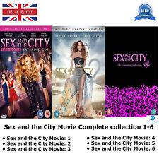 Sex and the City Movie Series 1-6 Complete Collection 1 2 3 4 5 6 Region 2 DVD
