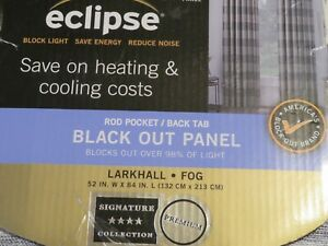 52 in X 84 in Eclipse Black out Panel signature collection Plaid
