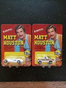 2 Vehicles Matt Houston Ertl  Excalibur Phaeton IV & Ford Bronco MOC Unpunched