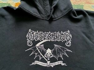 DISSECTION . Metal of Death VINTAGE Shirt L Hoodie Bolt Thrower Satyricon Slayer