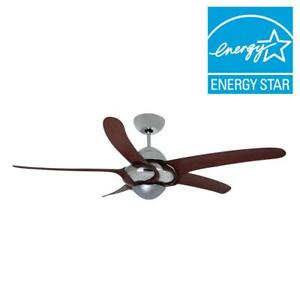 Vento Uragano 54 in. Indoor Chrome Ceiling Fan with 5 Mahogany Blades  K-00073