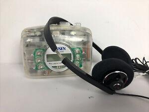 JENSEN JSR-1500 AM/FM Auto reverse Jail prison See-Through Portable Walkman.